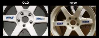 Volk Rays   TE37 alloy wheel stickers decals (BLUE)