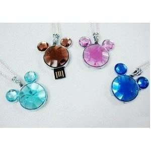 Mickey Mouse Head Crystal Diamond USB Flash Drive with