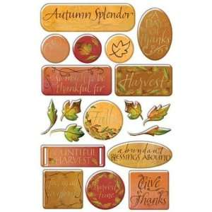 Thankful Foil Epoxy Stickers Arts, Crafts & Sewing