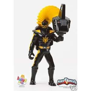 McDonalds Power Rangers Black Ranger Figure Toy #1 2005