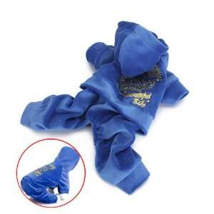Pet Dog Hooded Autumn Coat Velour Jumpsuit Clothes (XS)