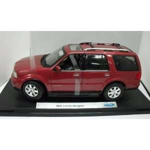 Replicarz W12554R 2005 Ford Lincoln Navigator   Red Toys & Games