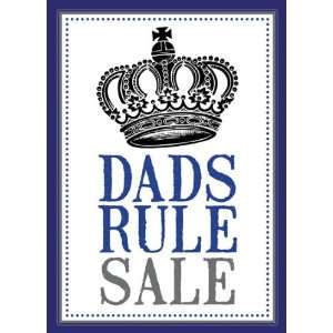 Dads Rule Fathers Day Sale Sign
