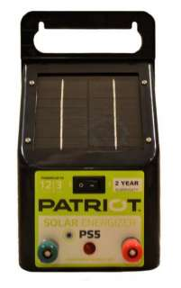 NEW Patriot PS5 Solar Electric Fence Energizer Charger