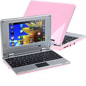 android 2.2 mini PINK netbook laptop WIFI VIA WM8650 with android