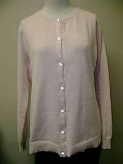 ISAACMIZRAHILIVE Long Sleeve Cardigan w/Bead Detail L