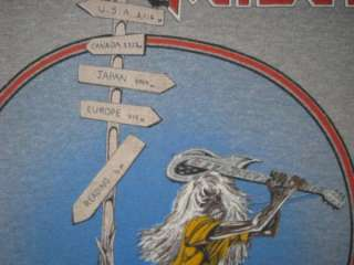 VTG IRON MAIDEN BEAST AT READING 82 EVENT T SHIRT TOUR