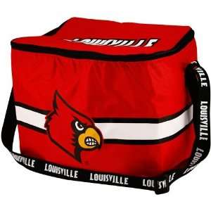 Louisville Cardinals Red Insulated 12 Pack Cooler Sports