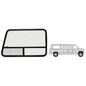 CRL T Slider Window   Passenger Side Rear 1992+ Ford Vans 42 3/4 x 27