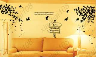 Wall Paper ART DECOR Mural Decal STICKER Tree&Bird #03