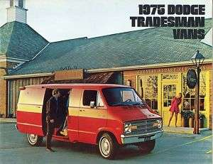 1975 Dodge Tradesman Vans Sales Brochure B100   300