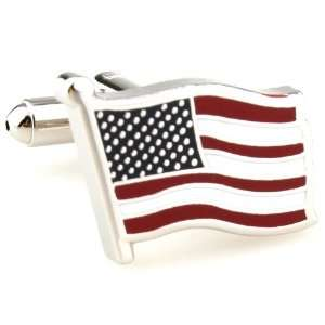 American Flag Stars and Stripes Cufflinks Cuff Links