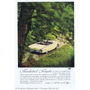 1962 Ford Thunderbird Yellow in Woods Thunderbird Turnpike Vintage
