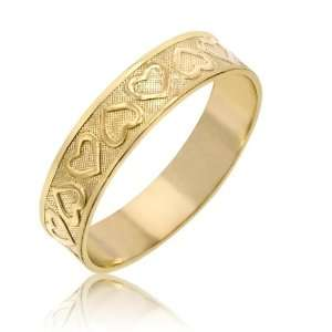 Ladies Hearts Ring in 14K Yellow Gold 75 42 Jewelry
