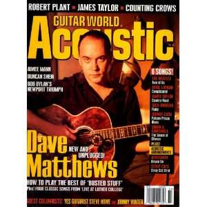 Dave Matthews, Robert Plant Guitar World Acoustic Magazine. Books