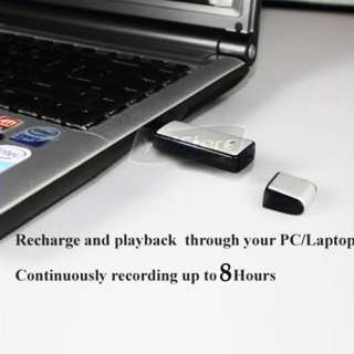 Disk 4GB 4G USB SPY Digital Voice Recorder Flash Drive Black