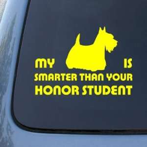 HONOR STUDENT   SCOTTISH TERRIER   Dog Sticker #1531  Vinyl Color