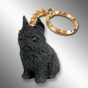 Brussels Griffon, Black Tiny Ones Dog Keychains (2 1/2 in