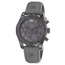 Emporio Armani Mens Sport Grey Dial Quartz Chronograph Watch