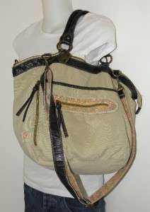 NEW AMERICAN RAG CROSSBODY DARCY LARGE CANVAS TOTE BAG COUNTRY GIRL