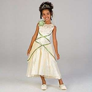 PRINCESS TIANA DELUXE WEDDING DRESS COSTUME 7/8 M NEW