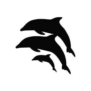 Dophin Family   Animal Decal Vinyl Car Wall Laptop Cellphone Sticker