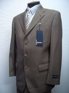 MENS SB BROWN WOOL BLEND DRESS SUIT SIZE 42L NEW SUITS