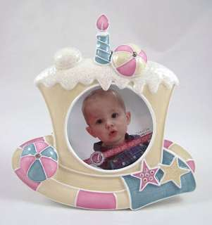 COLOUR BABY BIRTHDAY CAKE PHOTO FRAME   Unisex Free Local Post