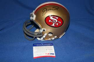 Joe Montana signed Mini Helmet PSA DNA COA 49ers M74278