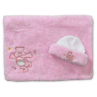 Care Bears   Pink Poodle Plush Cap and Blanket Set, in