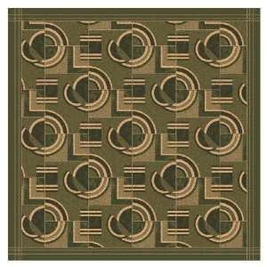 7430C / 77 77 x 77 Deep Olive Square Area Rug