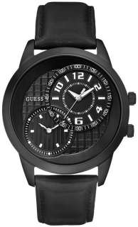 New Guess U11666G2 Two Time Zone Dimensions Mens Watch