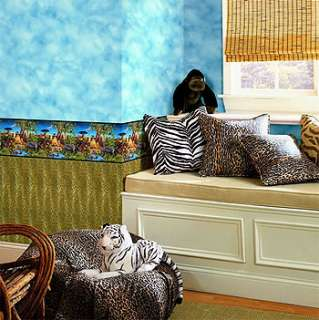 jungle animals wall paper kids border wild lions zebras free economy