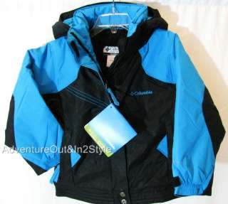 Girls Winter Coat Jacket Sz 4T (Insulated) NWT $90.00 BLK/BLUE