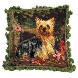 Yorkshire Terrier (Yorkie) 18 Needlepoint Pillow