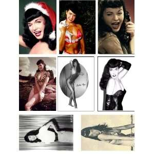 Betty Page Images On Magnet Set 1