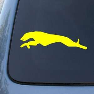 GREYHOUND RUN   Dog   Vinyl Car Decal Sticker #1519  Vinyl Color