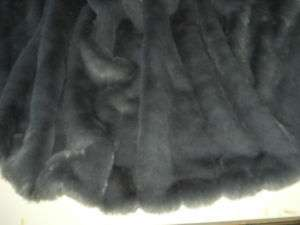 NJC* LARGE PLUSH FAUX FUR THROW BLANKET GRAY MINK