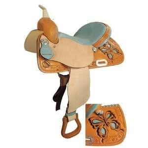 Made Butterly Barrel Racing Saddle w/ Ostrich Seat
