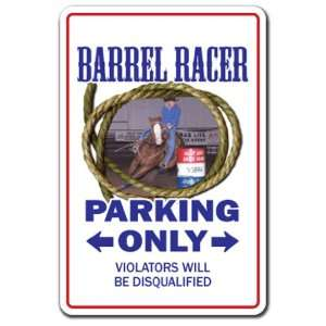 BARREL RACER ~Sign~ western cowboy rodeo gift Patio, Lawn