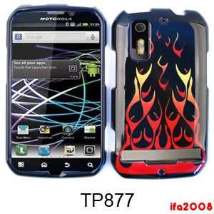 4G ELECTRIFY WILD FIRE ORANGE RED FLAME CASE COVER SKIN HARD