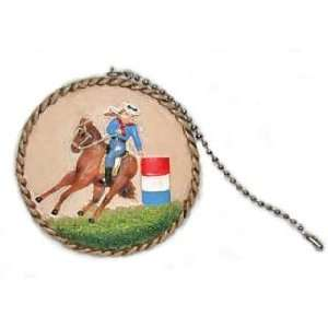 Cowgirl Barrel Racer Horse Pony Ceiling Fan Pull