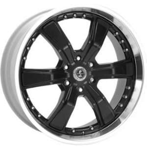 American Racing Shelby Shelby Razor 6 20x8.5 Black Wheel / Rim 6x135