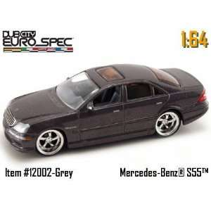Jada Dub City Grey Mercedes Benz S55 AMG 164 Scale Die