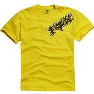 Fox Racing Blast T Shirt   X Large/Yellow Automotive