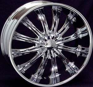 28 inch B15 chrome wheels Chevy Silverado GMC Sierra