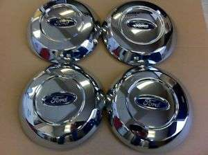 New Ford F150 OE factory chrome steel wheel center caps 04 08