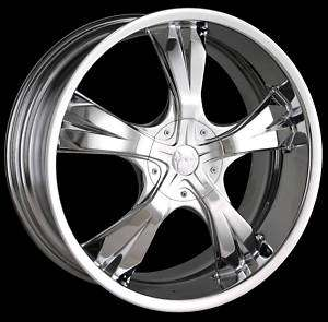 20 Mazzi Blade 370 Custom Chrome Wheels / Rims FWD