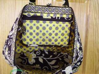 VERA BRADLEY Large Tic Tac Tote YELLOW BIRD Retired Purse Travel Bag
