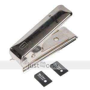 New Micro SIM Card Cutter For iPhone 4 4G + 2 Adapter